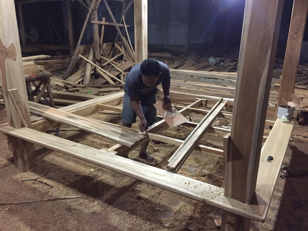 Proses Pembuatan Gazebo di gudang ARINIE GAZEBO √ harga gazebo taman minimalis