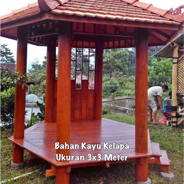 Jual Gazebo Taman Depan Garut ☎ 0852-2748-6411