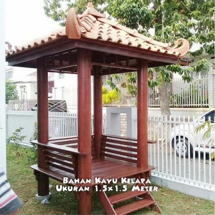 Jual Gazebo Taman Minimalis Sumenep ☎ 0852-2748-6411