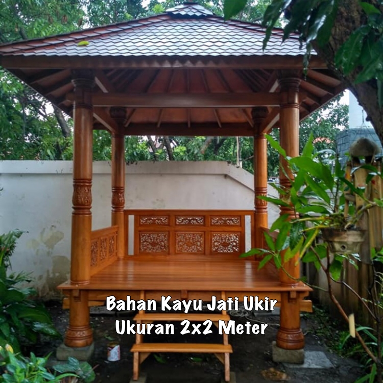 Gazebo Kayu Bondowoso ☎ 0852-2748-6411