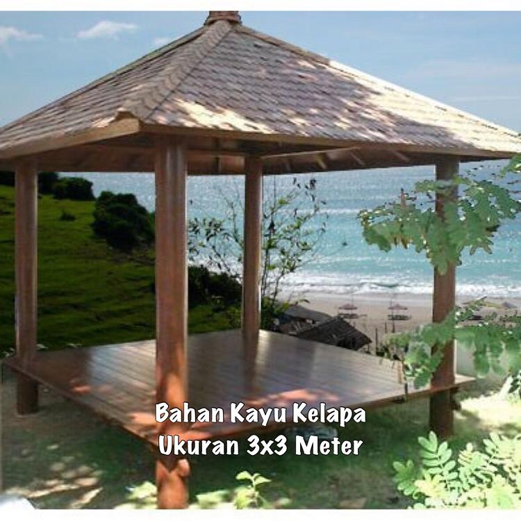 Jual Gazebo Kayu Jati Pasuruan ☎ 0852-2748-6411