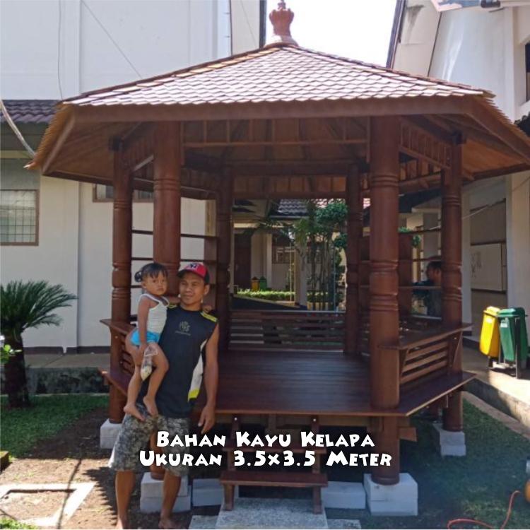 Gazebo Kayu Glugu Jawa Barat ☎ 0852-2748-6411