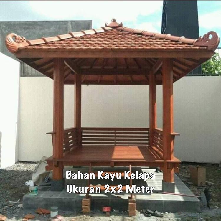 Jual Gazebo Taman Depan Jawa Timur ☎ 0852-2748-6411
