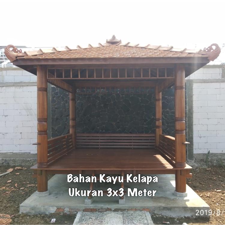 Gazebo Taman Minimalis Temanggung ☎ 0852-2748-6411
