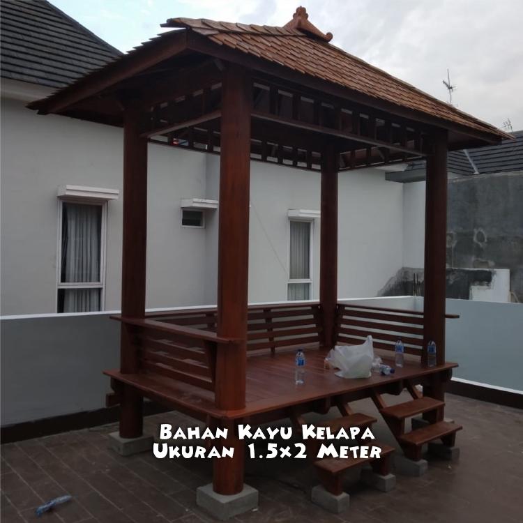 Jual Gazebo Kolam Ikan Semarang ☎ 0852-2748-6411