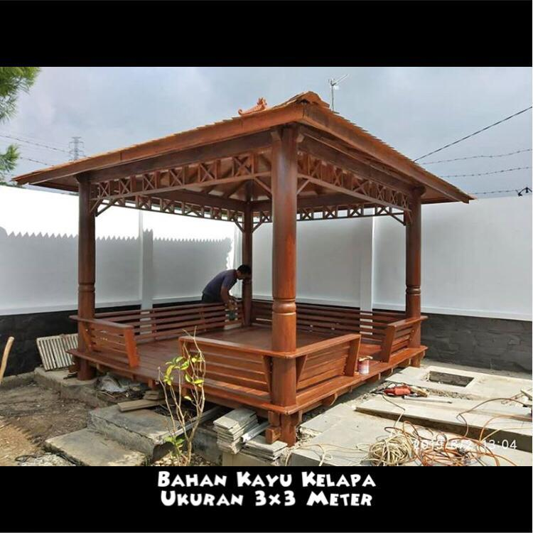 Jual Saung Gazebo Gresik ☎ 0852-2748-6411