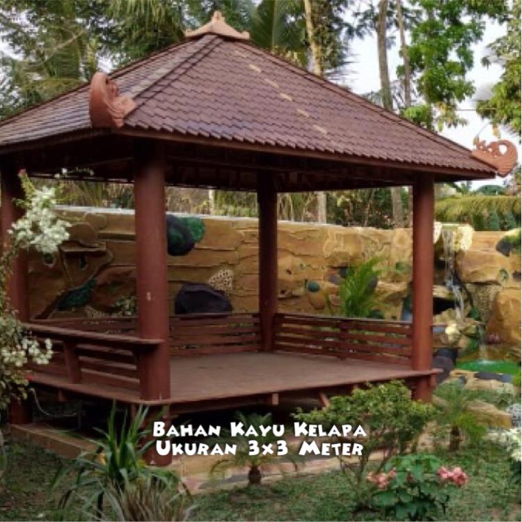 Harga Gazebo Taman Jogja ☎ 0852-2748-6411