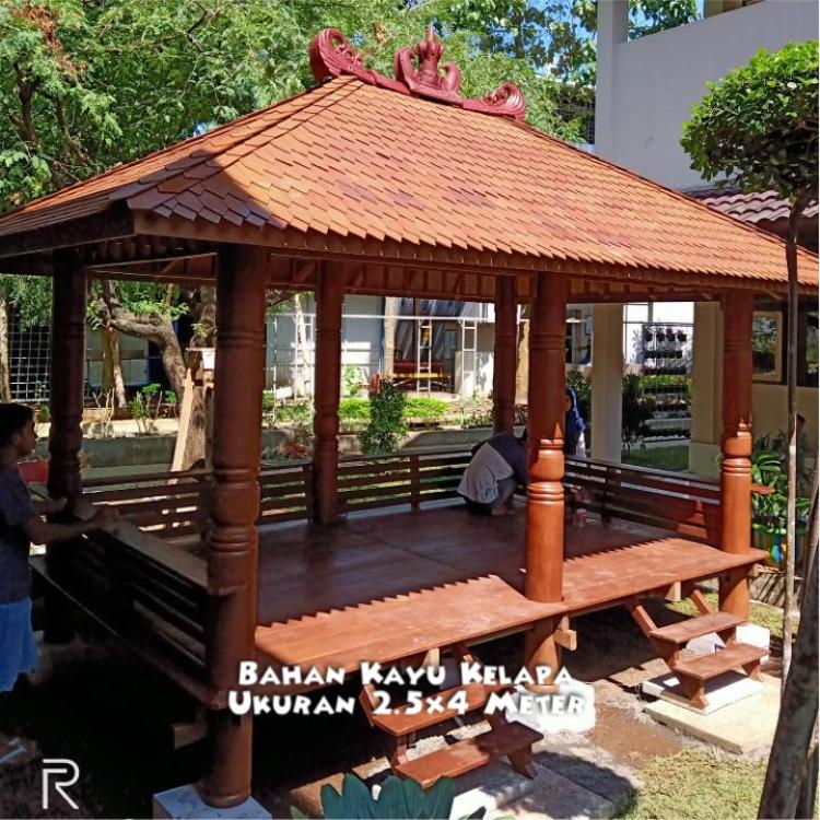 Harga Gazebo Kayu Jati Magelang ☎ 0852-2748-6411